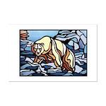 Polar Bear art Mini Poster Print Wildlife Painting