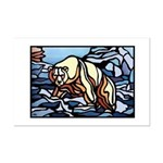 Polar Bear art Mini Poster Print Wildlife Painting