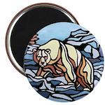 Polar Bear Art Fridge Magnet Wildlife Painting