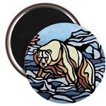 Polar Bear Art Fridge Magnet Wildlife Painting