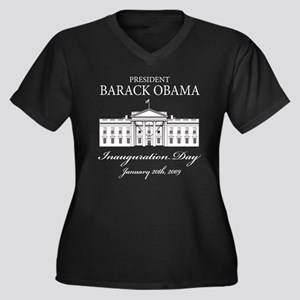 President Obama inauguration Women's Plus Size V-N