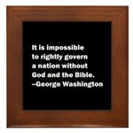 George Washington Quote Framed Tile