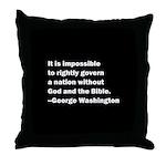George Washington Quote Throw Pillow