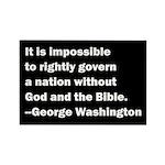 George Washington Quot Rectangle Magnet (100 pack)