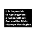 George Washington Quote Rectangle Magnet (10 pack)