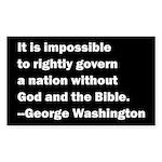George Washington Quote Sticker (Rectangle)