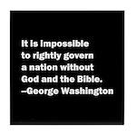 George Washington Quote Tile Coaster
