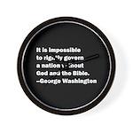 George Washington Quote Wall Clock