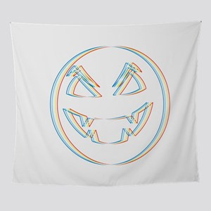 Psychedelic Halloween Pumpkin Trick Wall Tapestry