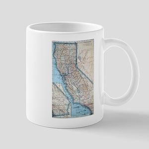 Vintage Map of California (1921) Mugs