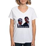 OBAMA-RAHM-A Women's V-Neck T-Shirt