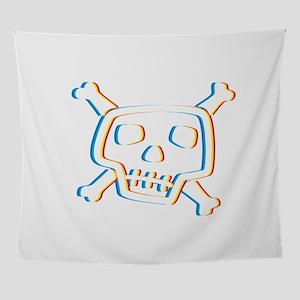 Skull Psychedelic Skeleton Halloween Wall Tapestry