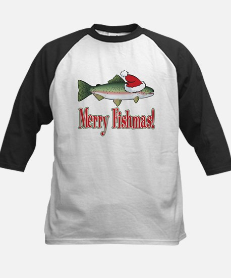 Merry Fishmas Kids Baseball Jersey