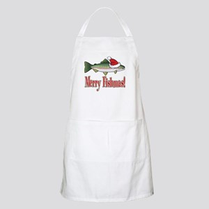Merry Fishmas BBQ Apron