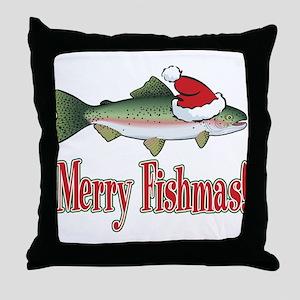 Merry Fishmas Throw Pillow