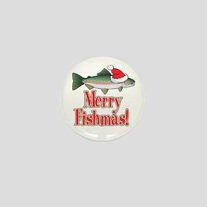 Merry Fishmas Mini Button