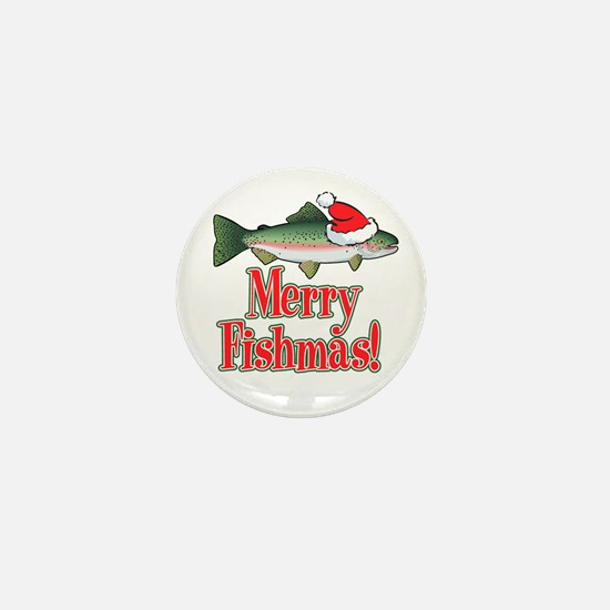 Merry Fishmas Mini Button