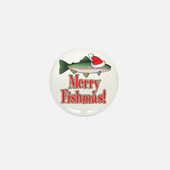 Merry Fishmas Mini Button (10 pack)