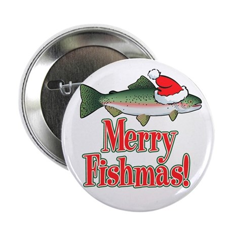 "Merry Fishmas 2.25"" Button (10 pack)"