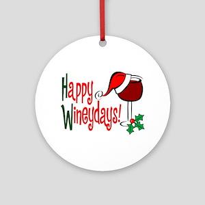Happy Wineydays Ornament (Round)