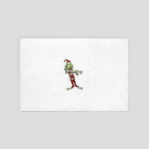 zombie christmas santa claus 4' x 6' Rug