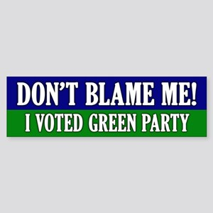 I voted Green Party Bumper Sticker