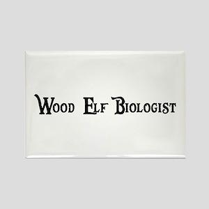 Wood Elf Biologist Rectangle Magnet