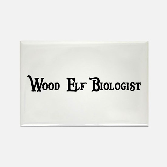 Wood Elf Biologist Rectangle Magnet