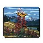 Butterfly & Landscape painting Mousepad