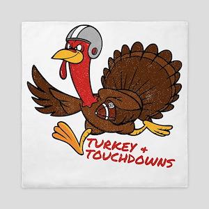 Turkey and Touchdowns Thanksgiving and Queen Duvet