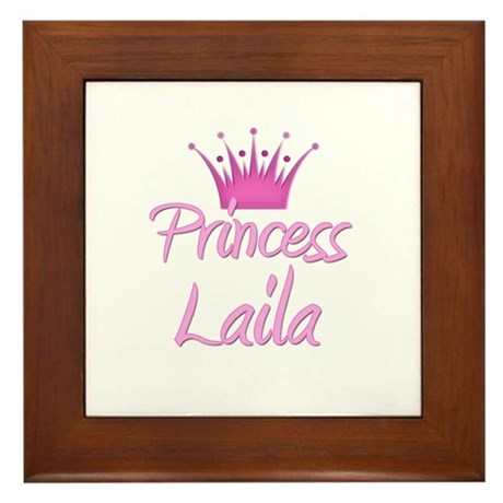 Princess Laila Framed Tile