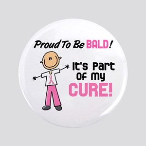 """Bald 1 Breast Cancer (SFT) 3.5"""" Button"""