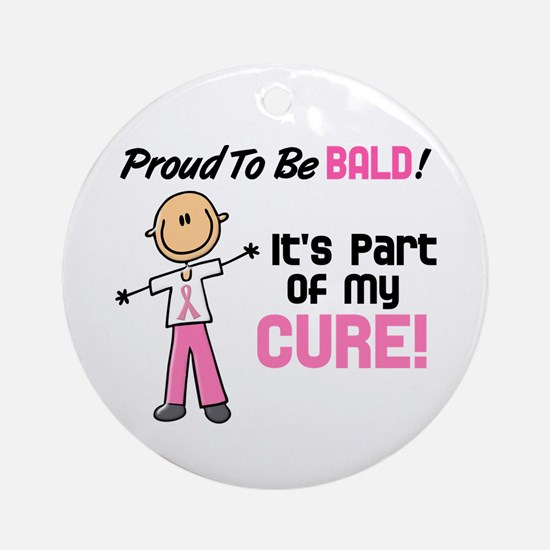 Bald 1 Breast Cancer (SFT) Ornament (Round)