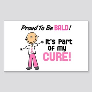 Bald 1 Breast Cancer (SFT) Rectangle Sticker