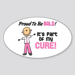 Bald 1 Breast Cancer (SFT) Oval Sticker