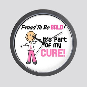 Bald 1 Breast Cancer (SFT) Wall Clock