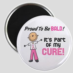 "Bald 1 Breast Cancer (SFT) 2.25"" Magnet (10 pack)"