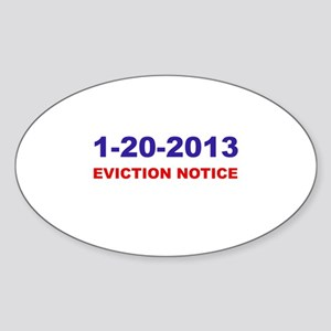 Eviction Notice Oval Sticker