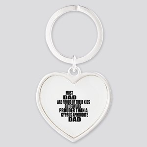 Cyprus Aphrodite Cat Dad Heart Keychain