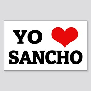 Amo (i love) Sancho Rectangle Sticker