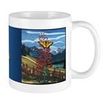 Butterfly & Canadian Landscape Art Mug