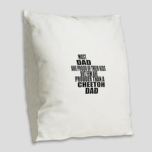 Cheetoh Cat Dad Burlap Throw Pillow