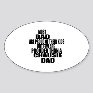Chausie Cat Dad Sticker (Oval)