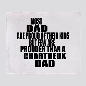 Chartreux Cat Dad Throw Blanket