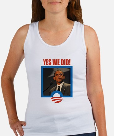 Obama - Yes We Did! Women's Tank Top