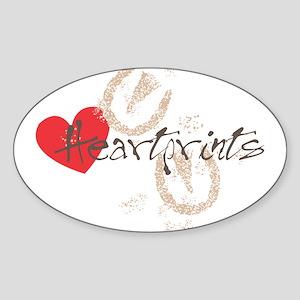 HeartPrints Sticker (Oval)