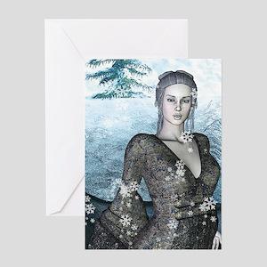"""""""Ice Princess"""" Single Greeting Card"""