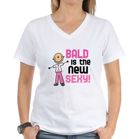 Bald 6 Pink (SFT) Women's V-Neck T-Shirt