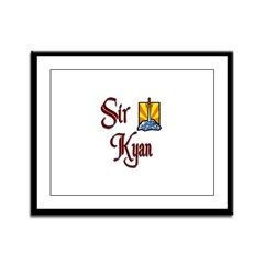 Sir Kyan Framed Panel Print