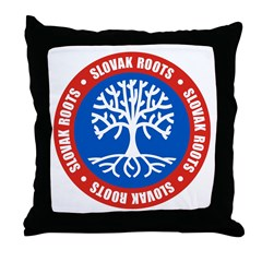 Slovak Roots Throw Pillow